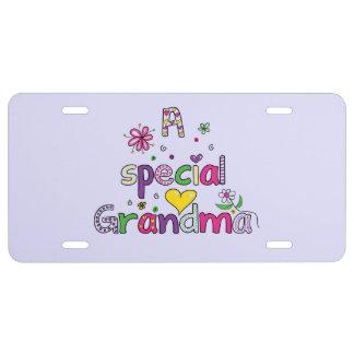 Special Grandma License Plate