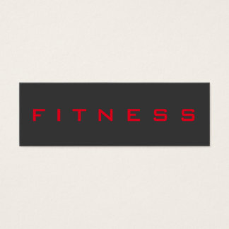 Special Grey Red Unique Personal Trainer Mini Business Card