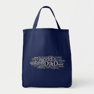 special message gift for 'best dad' Tote Bag Navy
