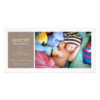 Special Moment Photo Baby Boy Birth Announcement Photo Greeting Card