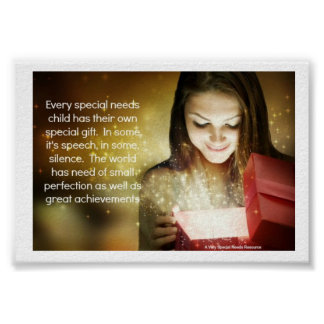 Special Needs Child Gift Poster