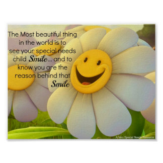 Special Needs Smile Poster