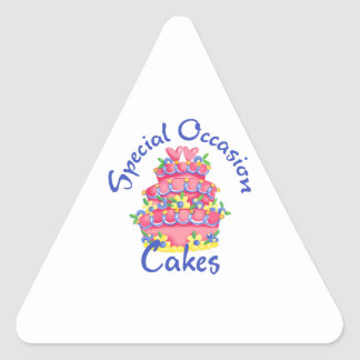 SPECIAL OCCASION CAKES TRIANGLE STICKER