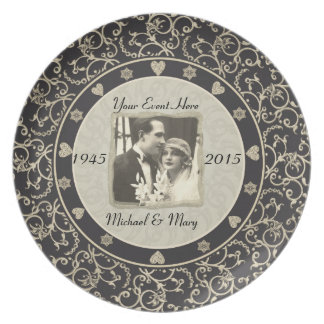 Special Occasion Customizable Wedding Photo Frame Plate