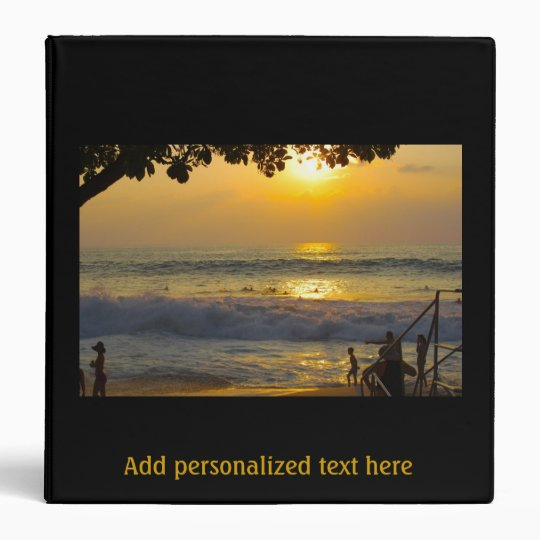 Special Occasion Gold Beach Scenery Photo Album Vinyl Binder