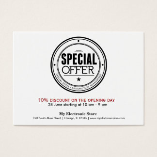 Special Offer Business Card