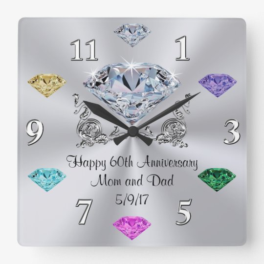 Special Order Birthstone 60th Anniversary Clocks