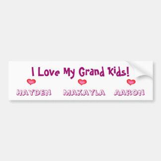 Special Order for Debbie/GrandKids Bumper Sticker