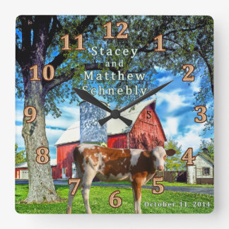 Special Order Guernsey and Farm Cow Clock