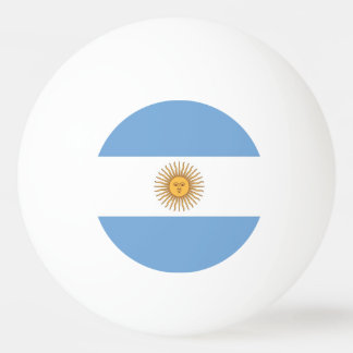Special ping pong ball with Flag of Argentina