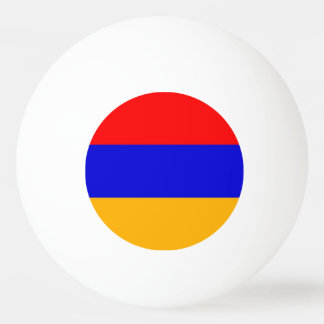 Special ping pong ball with Flag of Armenia