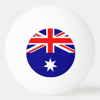 Special ping pong ball with Flag of Australia