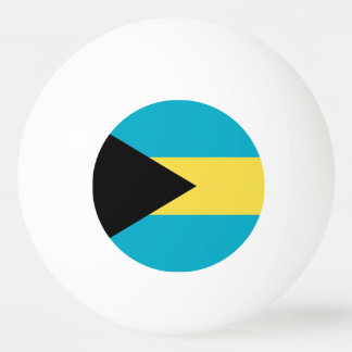 Special ping pong ball with Flag of Bahamas
