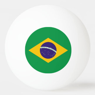 Special ping pong ball with Flag of Brazil