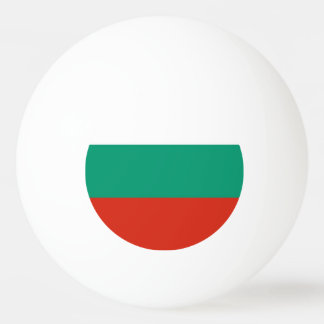Special ping pong ball with Flag of Bulgaria