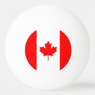 Special ping pong ball with Flag of Canada