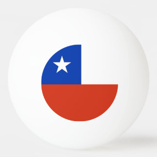 Special ping pong ball with Flag of Chile