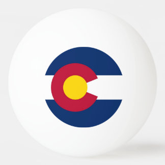 Special ping pong ball with Flag of Colorado State