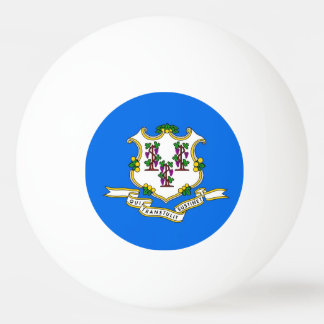 Special ping pong ball with Flag of Connecticut