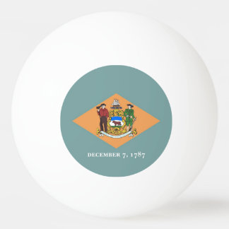 Special ping pong ball with Flag of Delaware