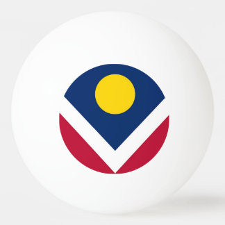 Special ping pong ball with Flag of Denver City