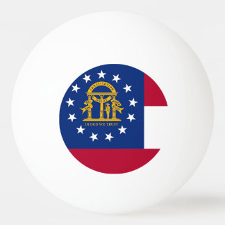 Special ping pong ball with Flag of Georgia