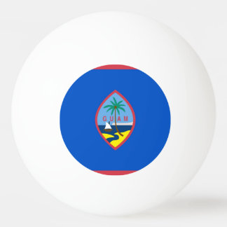 Special ping pong ball with Flag of Guam