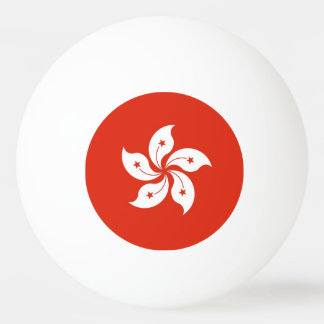 Special ping pong ball with Flag of Hong Kong