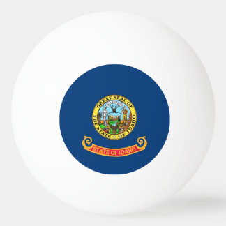 Special ping pong ball with Flag of Idaho State