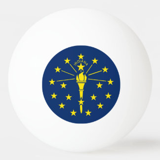Special ping pong ball with Flag of Indiana State