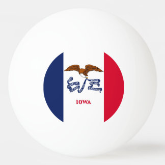 Special ping pong ball with Flag of Iowa State