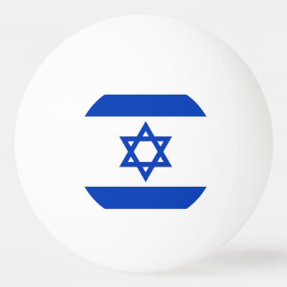 Special ping pong ball with Flag of Israel