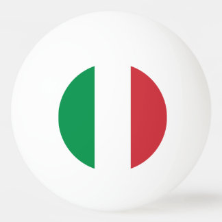 Special ping pong ball with Flag of Italy