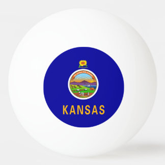 Special ping pong ball with Flag of Kansas State