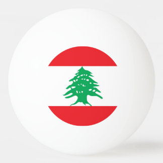 Special ping pong ball with Flag of Lebanon