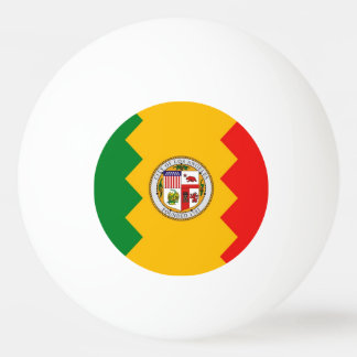 Special ping pong ball with Flag of Los Angeles