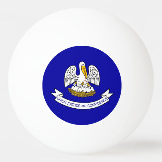 Special ping pong ball with Flag of Louisiana