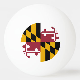 Special ping pong ball with Flag of Maryland