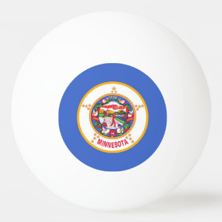 Special ping pong ball with Flag of Minnesota