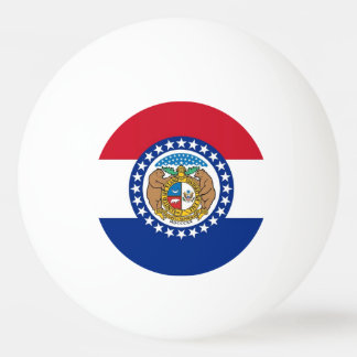 Special ping pong ball with Flag of Missouri