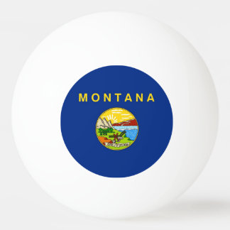 Special ping pong ball with Flag of Montana