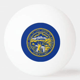 Special ping pong ball with Flag of Nebraska