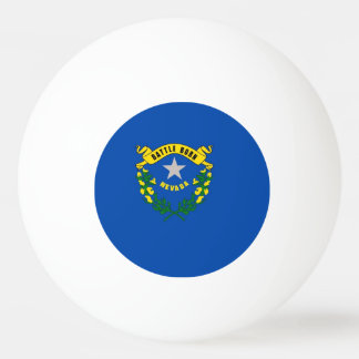 Special ping pong ball with Flag of Nevada