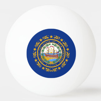 Special ping pong ball with Flag of New Hampshire