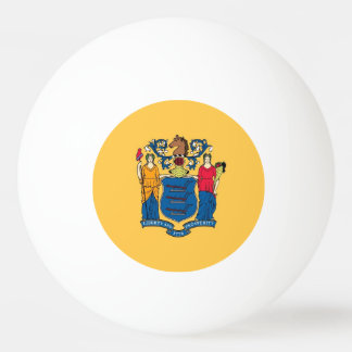 Special ping pong ball with Flag of New Jersey