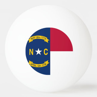 Special ping pong ball with Flag of North Carolina