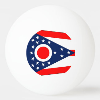Special ping pong ball with Flag of Ohio State