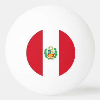 Special ping pong ball with Flag of Peru