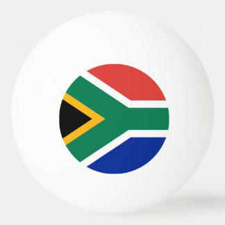 Special ping pong ball with Flag of South Africa