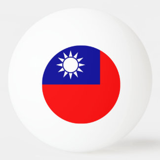 Special ping pong ball with Flag of Taiwan